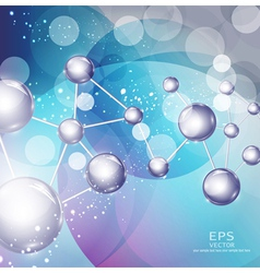 abstract background with molecules vector image