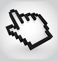 black hand arrow cursor vector image vector image