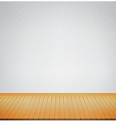 Brown wood floor with chinese style grey vector image vector image