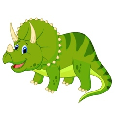 Cute triceratops cartoon vector image vector image