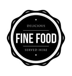 Fine food vintage stamp vector image