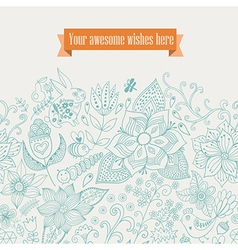 floral background Vintage retro background with vector image vector image