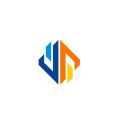 geometry shape business logo vector image vector image