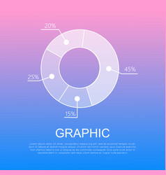 graphic isolated circular diagram with percentages vector image