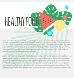 healthy food template vector image