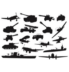 Military ww2 vector image vector image