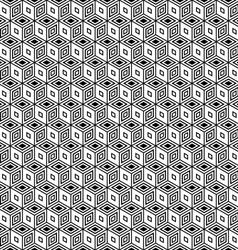 Pattern in op art design vector image