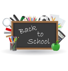 set icons school supplies 02 vector image