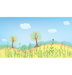 Summer landcape with grass vector image