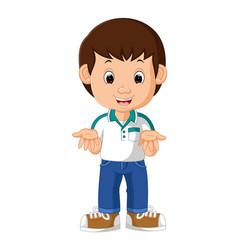 cute boy cartoon vector image vector image
