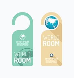 Paper door handle lock hangers concept world room vector image