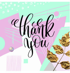 thank you hand lettering poster to thanksgiving vector image