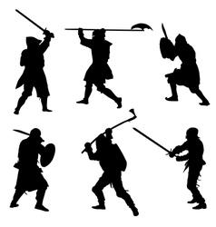 Ancient warriors vector image vector image