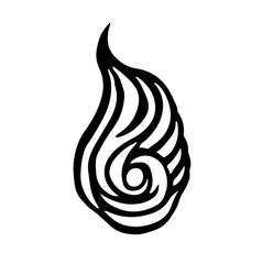 Emblem of fire Black and white fireballl sign vector image