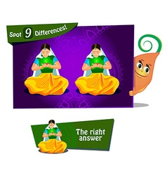 find 9 differences vector image