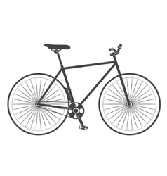 retro classic road bike vector image