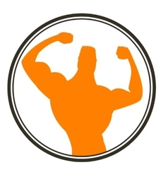 Strong man Sportsman Body Building Muscles vector image