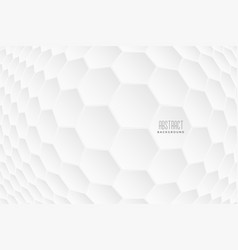 abstract hexagonal 3d shapes white background vector image