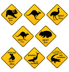 Australian Roadsigns vector image