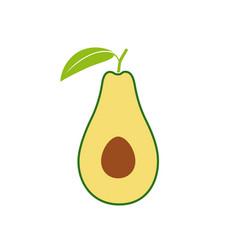 Avocado symbol vector