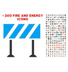 Barrier icon with bonus flame clipart vector