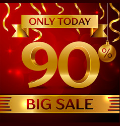 Big sale ninety percent for discount vector
