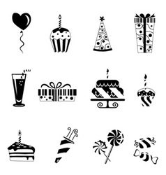 birthday design elements vector image
