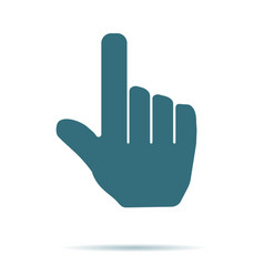Blue hand cursor icon isolated on background mode vector