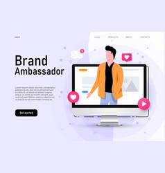 Brand ambassador concept with man vector