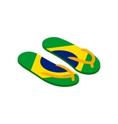 Brazilian flip flops icon isometric 3d style vector image