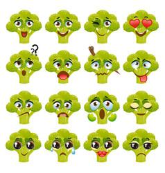 Broccoli emoji emoticon expression vector