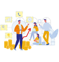 business coaching mentor at office team meeting vector image