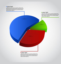 Business info graphic diagram vector