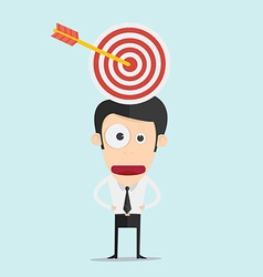 Businessman and target concept vector image