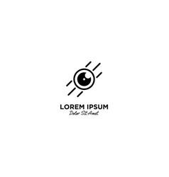 Camera logo icon line outline monoline vector