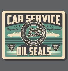 Car service automotive oil seals parts shop vector