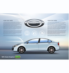 Car template vector
