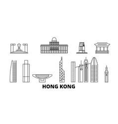 China hong kong city line travel skyline set vector