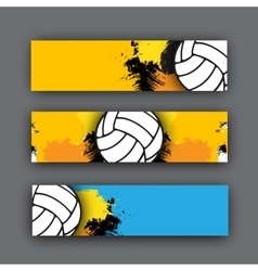 collection banners volleyball theme vector image