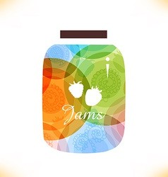 Colourful and artistic icon vector image