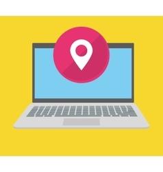 Computer gps ubication vector