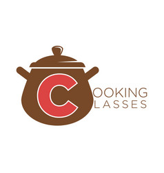 cooking classes sauce pan icon vector image