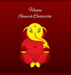 Creative poster of celebrate ganesh chaturthi vector