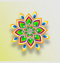 Diwali ranguli festive ornaments celebration vector