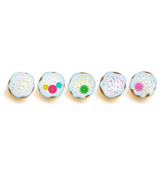 easter cakes on white background vector image