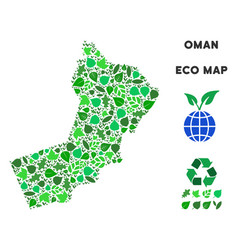 ecology green collage oman map vector image