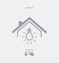 Electricity supply - web icon vector