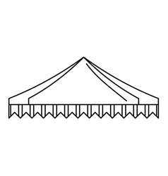 Gazelo tent icon outline style vector