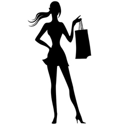 Girl silhouette2 vector