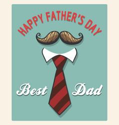 happy fathers day retro poster vector image vector image